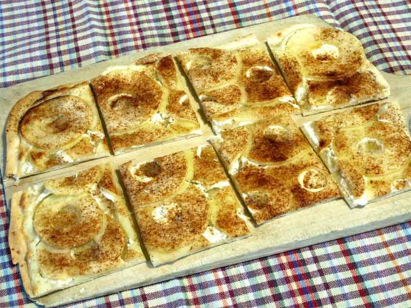 Apfel Zimt Flammkuchen Rezept Einfacher Flammkuchenteig Ohne Hefe