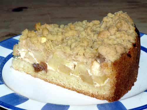 Apfelkuchen Mit Streusel Rezept Einfacher Murbeteig Schmand Und