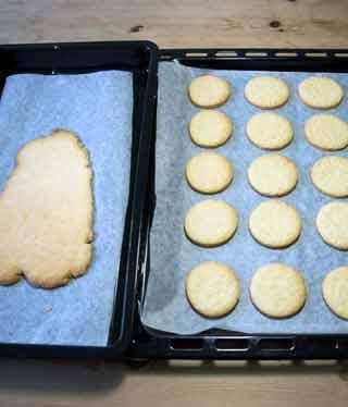 Granatsplitter-Kekse