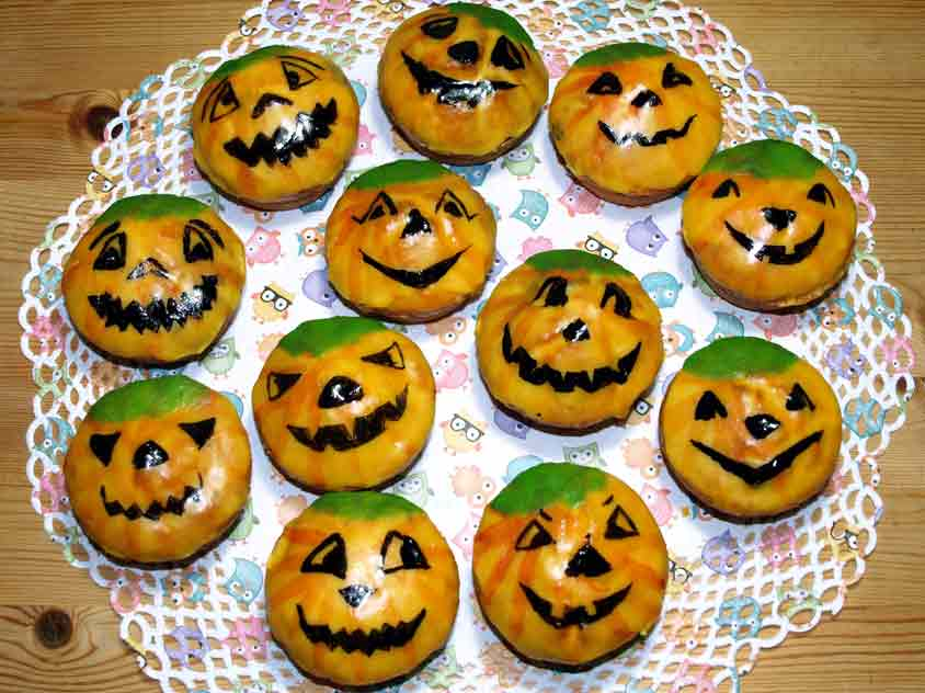 halloween muffins rezept k rbis muffins f r halloween backen. Black Bedroom Furniture Sets. Home Design Ideas