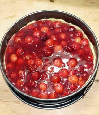 Rezept Kirschkuchen Mit Streusel Mit Frischen Kirschen Aus Dem Glas