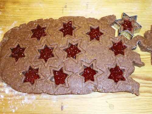 Linzer Weihnachtsplätzchen.Linzer Plätzchen
