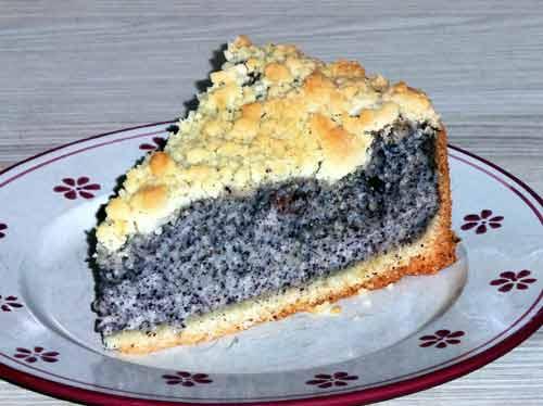 Kuchen mit mohnback fullung