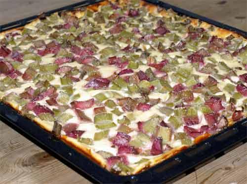 Rezept Rabarberkuchen Mit Quark Vom Blech