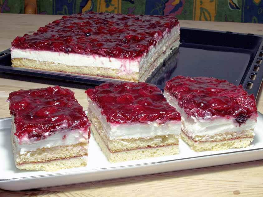 Rote Grutze Kuchen Rezept Mit Agar Agar Agartine Vom Blech Sahne